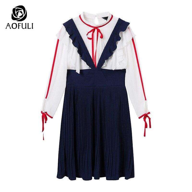 Femmes 9023 Ensemble Bleu La Tops Volants Dames Outfit Pièces Mousseline Aofuli Plus Des De xxxl 4xl Jarretelles 5xl Deux Taille S Robe Costume Élégantes En Soie j35A4RLq