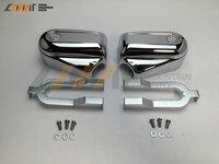 Black / Chrome Bar & Shield Rear Axle Covers swingarm Cap case for Softail FLSTC FLSTN FXSTB