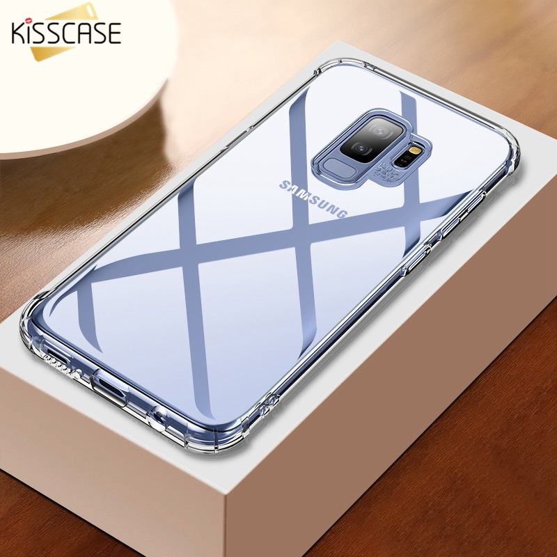KISSCASE Shockproof Phone Case For Samsung Galaxy Note 9 8 S9 S8 Plus Simple Transparent Soft TPU Case For Samsung Note 9 8 S8