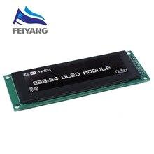 """جديد شاشة OLED 2.8 """"256*64 25664 نقطة وحدة عرض LCD الرسومات شاشة LCM SSD1322 تحكم دعم SPI"""