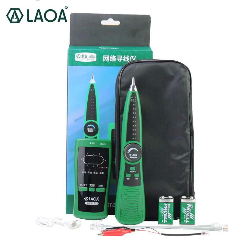LAOA nouvelle ligne multifonctionnelle à la recherche d'outils de Test et de suivi réseau RJ45/RJ11 livraison sans batterie