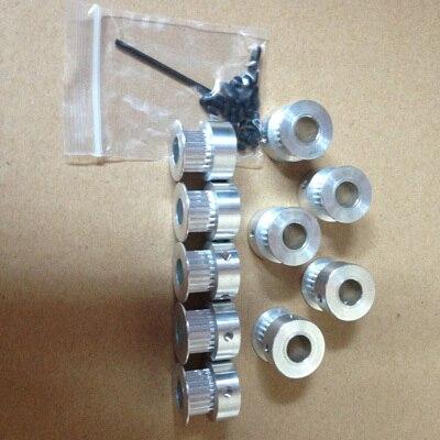 20 M cinto gt2, 10 pcs gt2 polia 20 dentes, Pacote de 8mm e furo do parafuso de ajuste