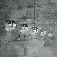 Современный светильник для бара, стеклянный креативный круглый светильник для ресторана отеля, прикроватный дизайнерский кулон, лампа LO72715