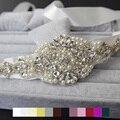 New Arrival Vintage Luxury crystal Wedding waistband handmade pearl crystal beaded Bridal Sash belt Evening dress belt