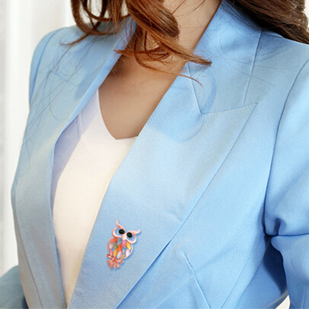 New Colorful Owl Brooches And Pins For Women Personalized Design Cute Korean Style Brooches Wedding Jewelry Hot Sale