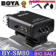 BOYA BY-SM80 Stereo Video Microphone with Windshield for Canon for Nikon for Sony DSLR Camera Microphone Camcorder цена