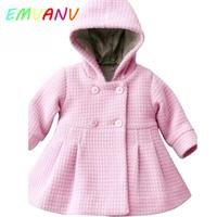 Cute Hooded Girls Coat New Spring Top Autumn Winter Warm Kids Jacket Outerwear Children Clothing Baby