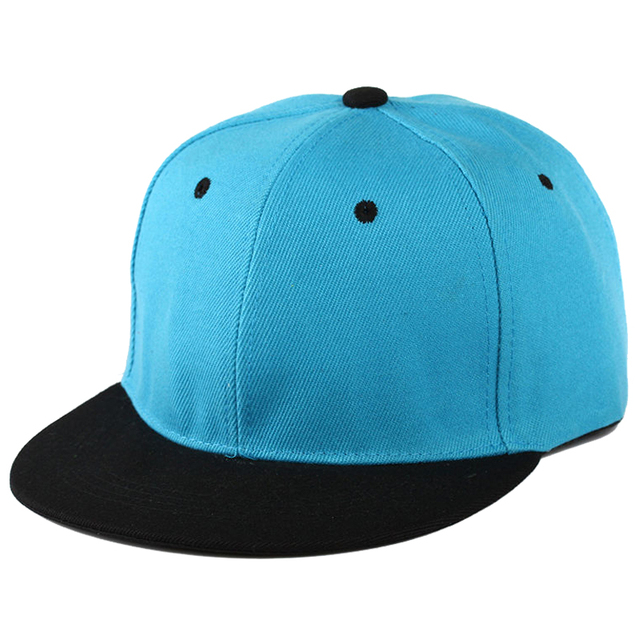 86268f2e8ad Plain Snapback Hat Caps Flat Peak Funky Retro Baseball Cap Hip Hop Hats  Vintage Blue Red