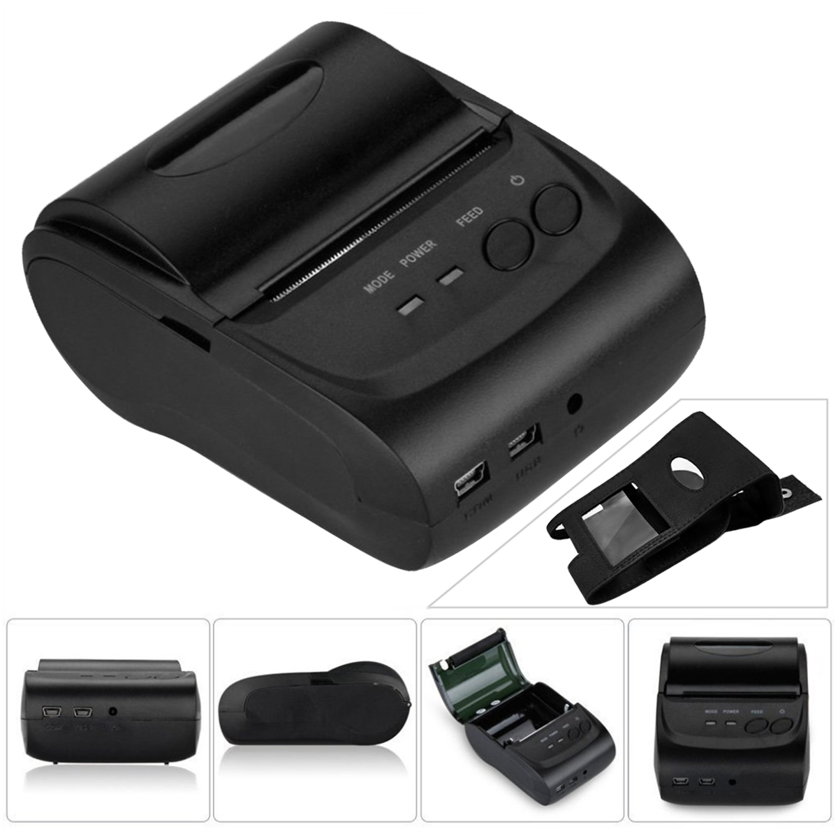 58mm Wireless Bluetooth Android IOS Portable Mini Mobile Thermal Receipt Printer With Cover goojprt mtp ii 58mm bluetooth thermal printer portable rechargeable wireless receipt machine for windows android ios 80mm s