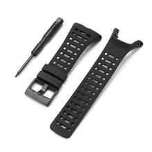 23mm Black Silicone Rubber Watch Band Strap Replacement Watchband + Screwdriver for Suunto Ambit 1 2 3 quality silicone watchband 23mm black sport style for mens replacement silicone watch bands with steel buckle