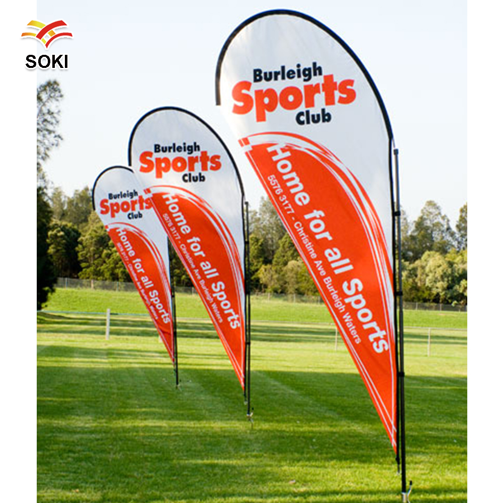 Banner banners banner poles outdoor display cheap custom - Teardrop Feather Banner S M Szie Pole Kits 2 8m