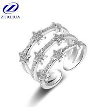 Новое креативное модное популярное трехслойное кольцо со звездочками