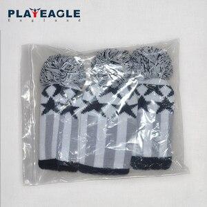 Image 5 - Couvre chef de club de Golf 3 pièces/ensemble à tricoter couvre chef de pilote de Golf en bois laine tricotée 1 3 5 couvre chef gris à rayures avec étiquette numérique