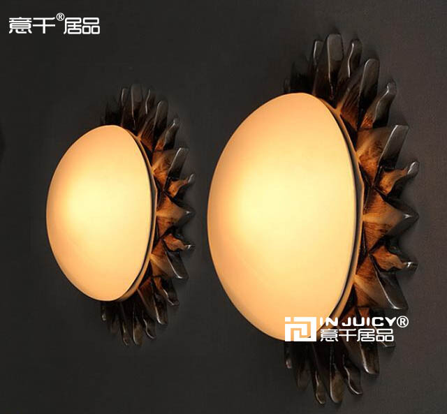 26CM  Europe Vintage Nordic Industrial Roman sunflowers Use Vintage Ceiling or Wall lamp For Cafe Bar Hall Coffee Shop Balcony 18cm bohemian style red bronze colour crystal led wall lamp vintage wall light cafe bar store hall coffee shop aisle lighting