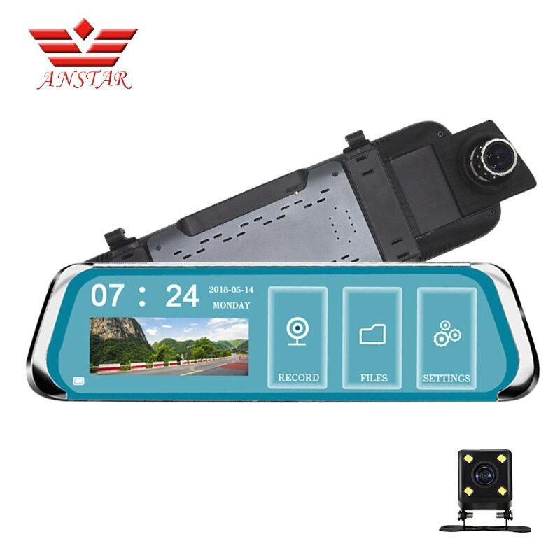 ANSTAR Full HD 1080P Rear View Camera Car DVR 10 Touch Screen Blue Mirror Design Registrar Sensor Car Video Surveillance DVRS