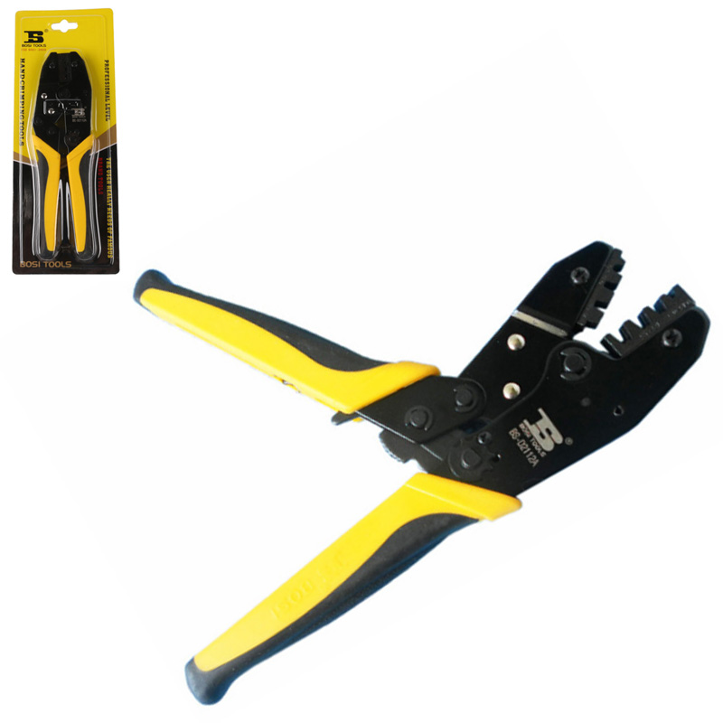 Free shipping BOSI hand insulated ratchet terminal crimping pliers,crimper tools