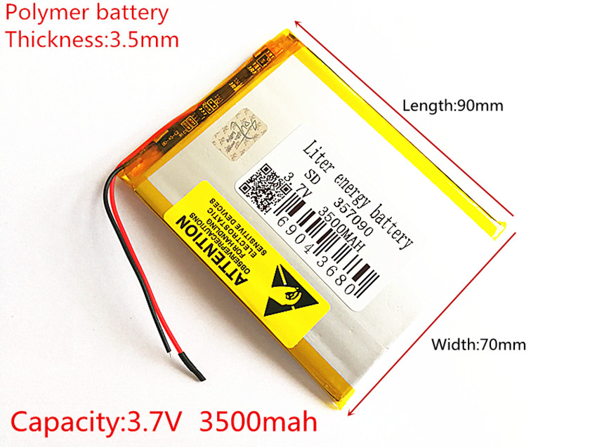 brand new battery 357090 3 7V 3500mAh Lithium polymer Battery with Protection Board For Tablet PC