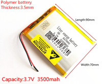 brand new battery 357090 3.7V 3500mAh Lithium polymer Battery with Protection Board For Tablet PC  U25GT Free Shipping