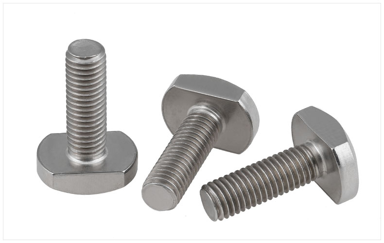 GB37 304 stainless steel screws T-Shaped screw Bolts M5 M6 M8 M10 M12 screw M6*25 M8*20 M8*25 M8*35 screws 1pcs m16 50 60 70 80 90 100 300 gb37 8 8 t type screw screw bolt t shaped plate screws black t slot with bolts