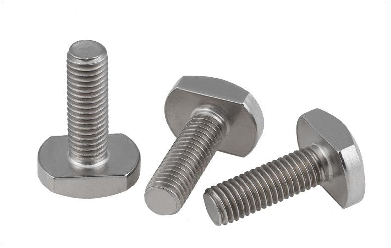 GB37 304 stainless steel screws T-Shaped screw Bolts M6 M8 M10 screw M6*25 M8*20 M8*25 M8*35 screws 6pcs lot titanium tc4 bolts screws m8 20 m8 24 m8 33 for motorcycle brake disc fixing