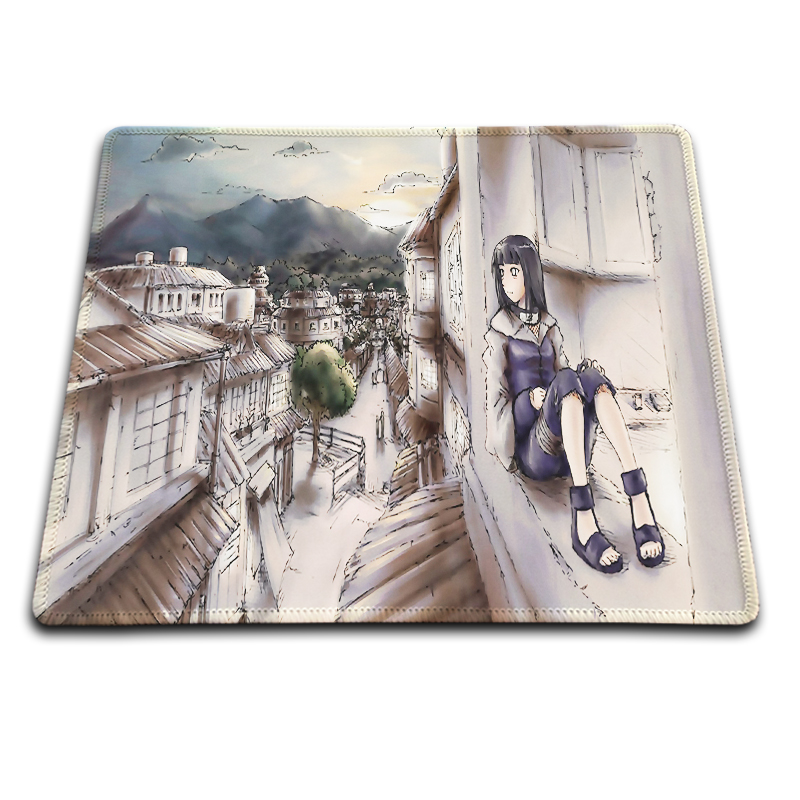 Naruto Hyuuga Hinata Popular Gaming Rectangle Silicon Durable Mouse Pad 220*180mm and 25 ...