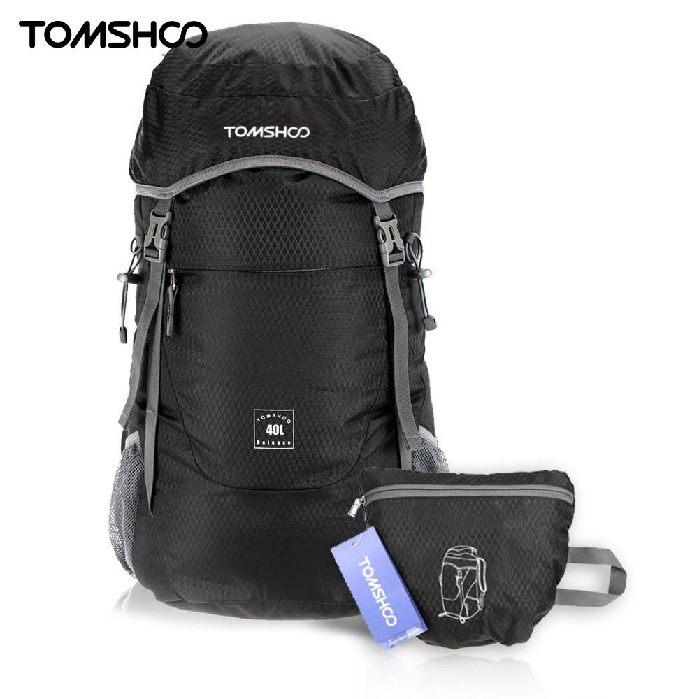 tomshoo  TOMSHOO Outdoor Backpack 40L Ultra Lightweight Water resistant Nylon ...