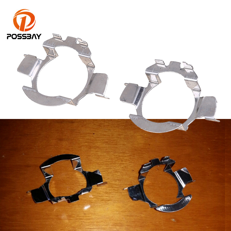 POSSBAY H7 <font><b>LED</b></font> Headlight Bulb Holder Adapter for Mercedes Benz VW Nissan Opel Chevrolet Audi <font><b>Renault</b></font> Auto <font><b>Lamp</b></font> Adaptor Bracket image