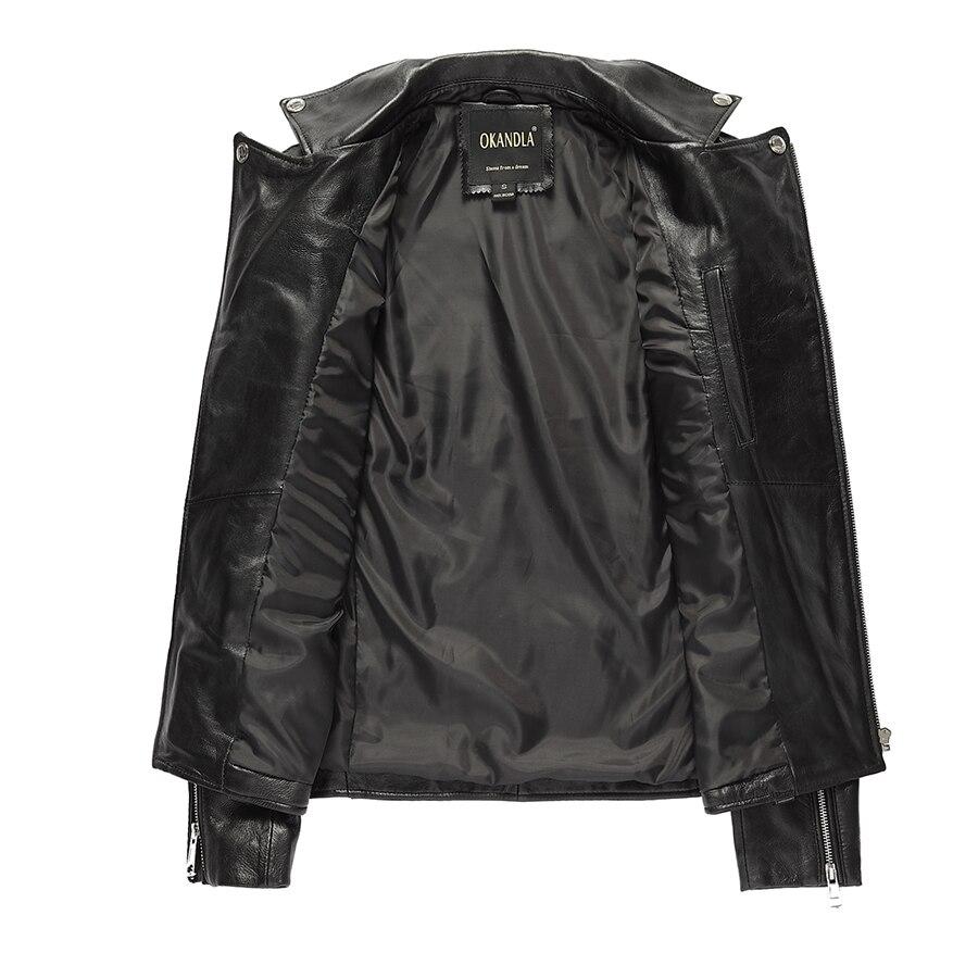 HTB1CroFaorrK1RkSne1q6ArVVXa3 Free shipping.brand new black mens sheepskin jacket.classic biker soft genuine leather coat.fashion plus size style slim jackets