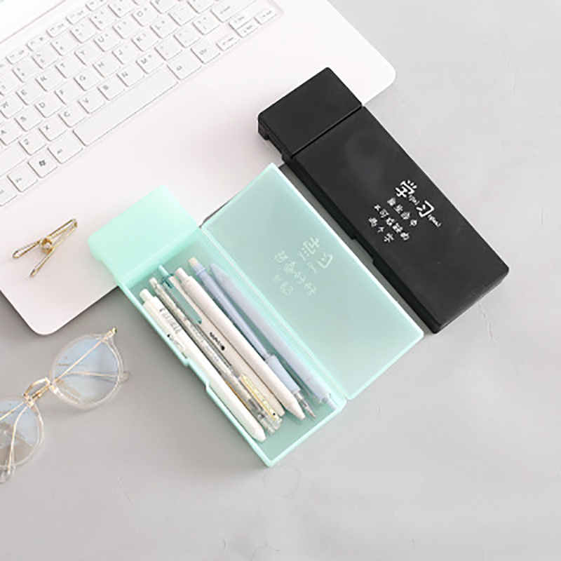 1PCS JIANWU Simple transparent pencil case pencil box Plastic storage box Learning stationery School Office Supplies in Pencil Cases from Office School Supplies