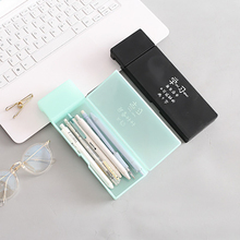 1PCS JIANWU Simple transparent pencil case pencil box Plastic storage box Learning stationery School Office Supplies muji style simple transparent pencil case flamingo cactus pencil box plastic storage box learning stationery office supplies