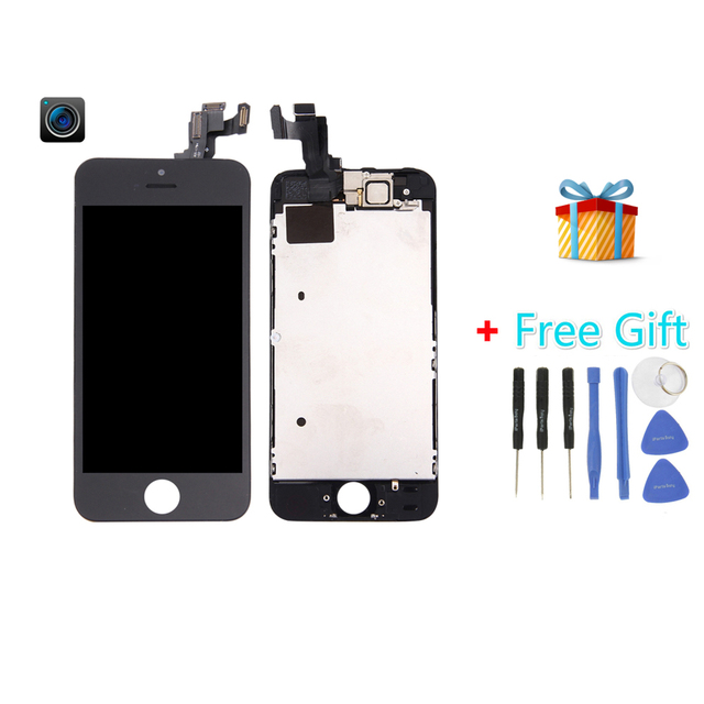 iPartsBuy Latest LCD for iPhone 5s (Camera + LCD + Frame + Touch Pad +Free Gift ) Digitizer Assembly
