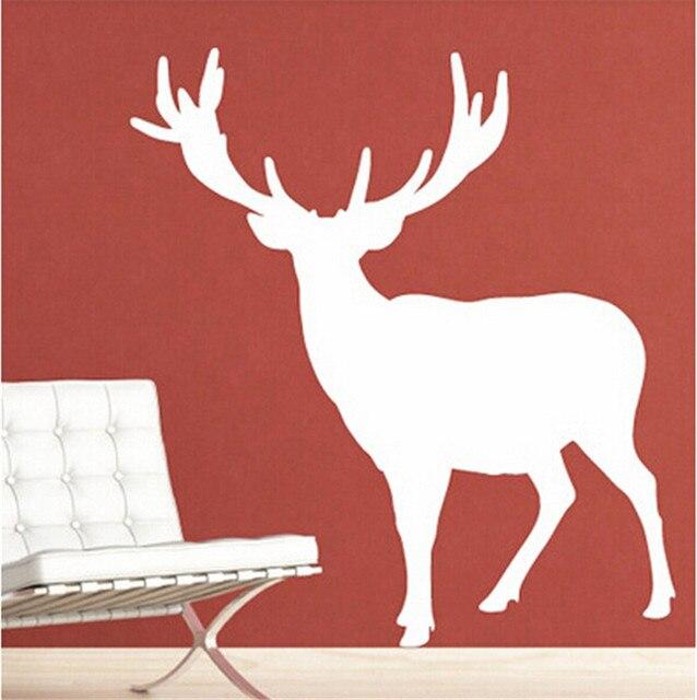 2018 Christmas Decorations Elk Wall Decals Doe Deer Wall Stickers Vinyl Wallpaper Home Decor