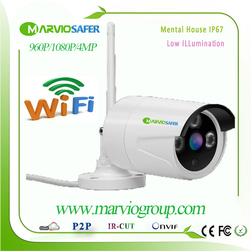 H.265/H.264 4MP Full HD 1080P WIFI Bullet Outdoor IP Network Camera CCTV IPCam Onvif 2MP Cam Wireless CCTV Security Video System heanworld dome ip camera hd h 265 5 0mp cctv security camera video network camera onvif surveillance outdoor waterproof ip cam