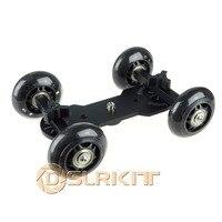Black Desktop DSLR Camera Video Photography DV Rail Track Slider Table Dolly Car