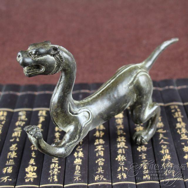 Statue d'ornements de Dragon en laiton sculpté à la main