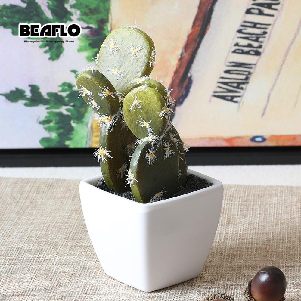 1 Unidades Mini Suculentas En Macetas Cactus Bonsai Flor Artificial - Para fiestas y celebraciones - foto 2