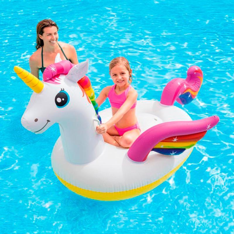 Единорог надувной для взрослых и детей. Коврик бассейн, пляж и праздник. Игрушки Вода 200 см.
