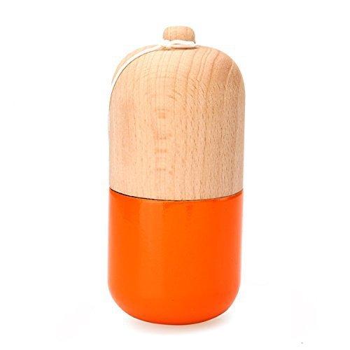O esporte bola brinquedos clássico tradicional japonês tipo pílula cápsula kendama de madeira com 3 furos