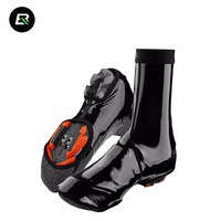 ROCKBROS Cycling Thermal Shoes Cover Winter Windproof MTB Bike Equipment Bicycle Overshoes Protector Warmer Boot Covers
