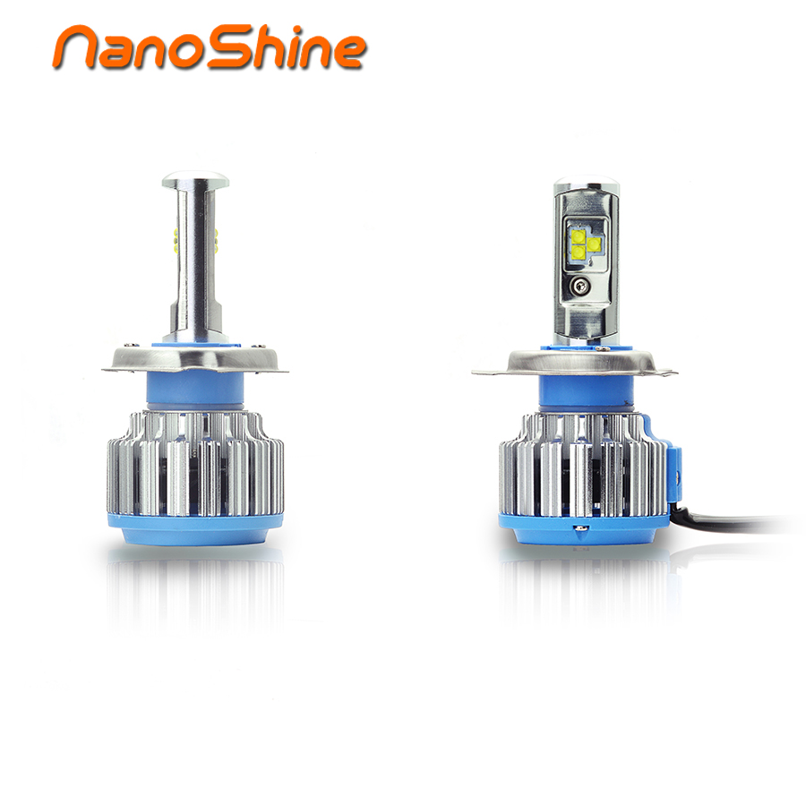 Nanoshine H4 Led Headlight High Power Automobile Lamp H4-3 Hi/lo Beam White 6000K Bulb All In One 12V/24V
