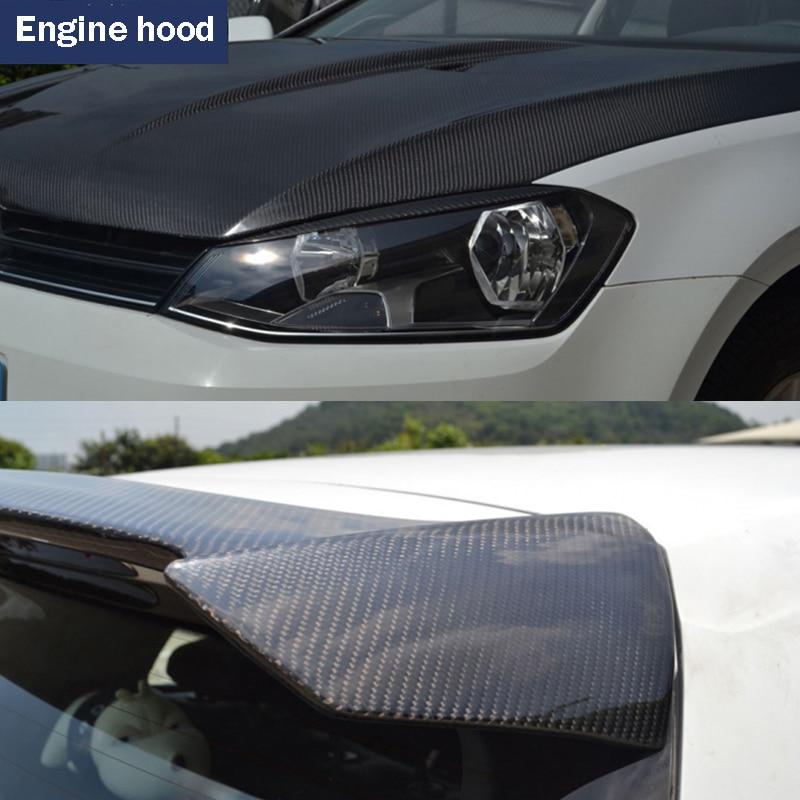 30*100CM Car Stickers 5D Carbon Fiber Film Inner Decor Anti Scratch Car Cover Car Accessories For Volkswagen Audi