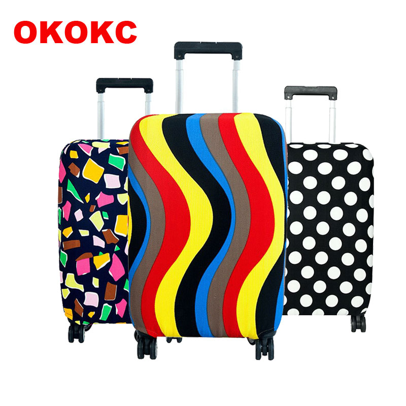 OKOKC Travel On Road Luggage Cover Protective Suitcase Cover Trolley Case Travel Luggage Dust Cover For 18 To 30inch