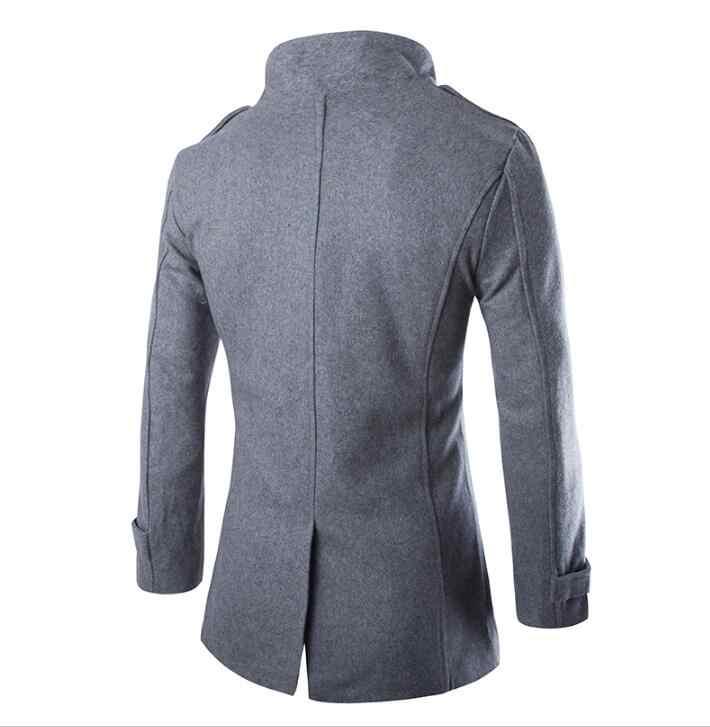 Роскошные 2018 зимние длинные плотные мужские черные пальто-бушлат, повседневные мужские пальто высокого качества в деловом стиле, пальто, размер xxxl