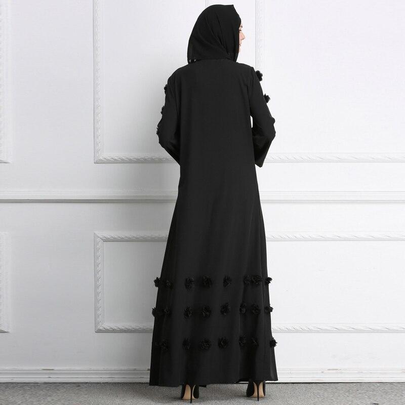 Vêtements Kimonos Musulman gray Verano Ropa Mujer Taille Gilet De Black Islamiques Grande 2019 Printemps Abaya Long Kimono Femmes Floral Maxi Turc white PZOkXiu