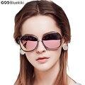 2016 Mujeres gafas de Sol Polarizadas UV 400 REVO Bluekiki Película de Alta Calidad Mariposa Marco Redondo Gafas De Sol feminino FreeShipping