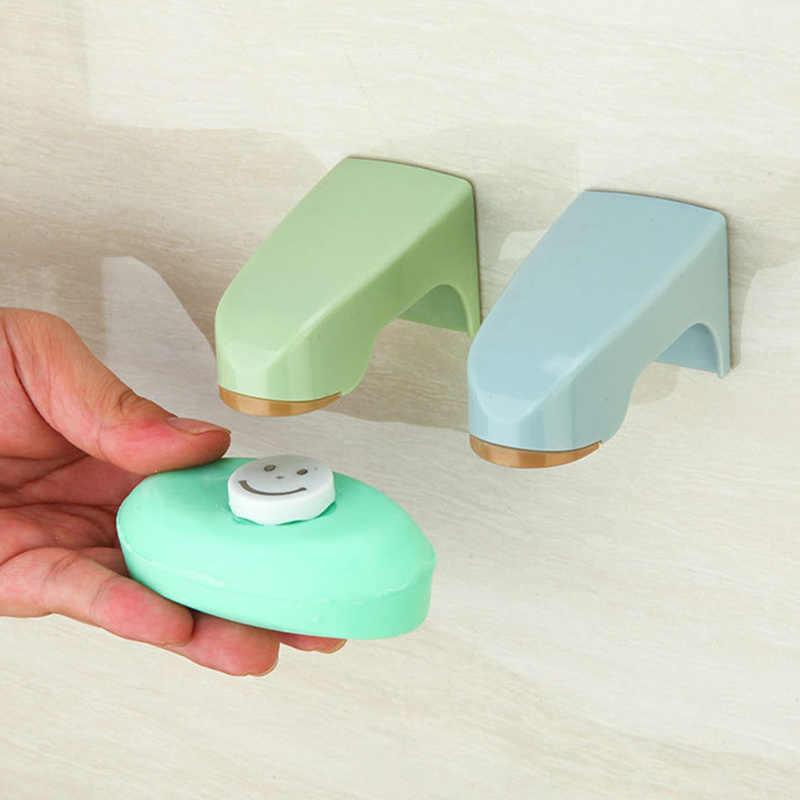 ملحقات الحمام حامل الصابون المغناطيسي صحن الصابون الخشبي مع ملصق رفوف الصابون 5 ألوان الحائط تخزين الرف