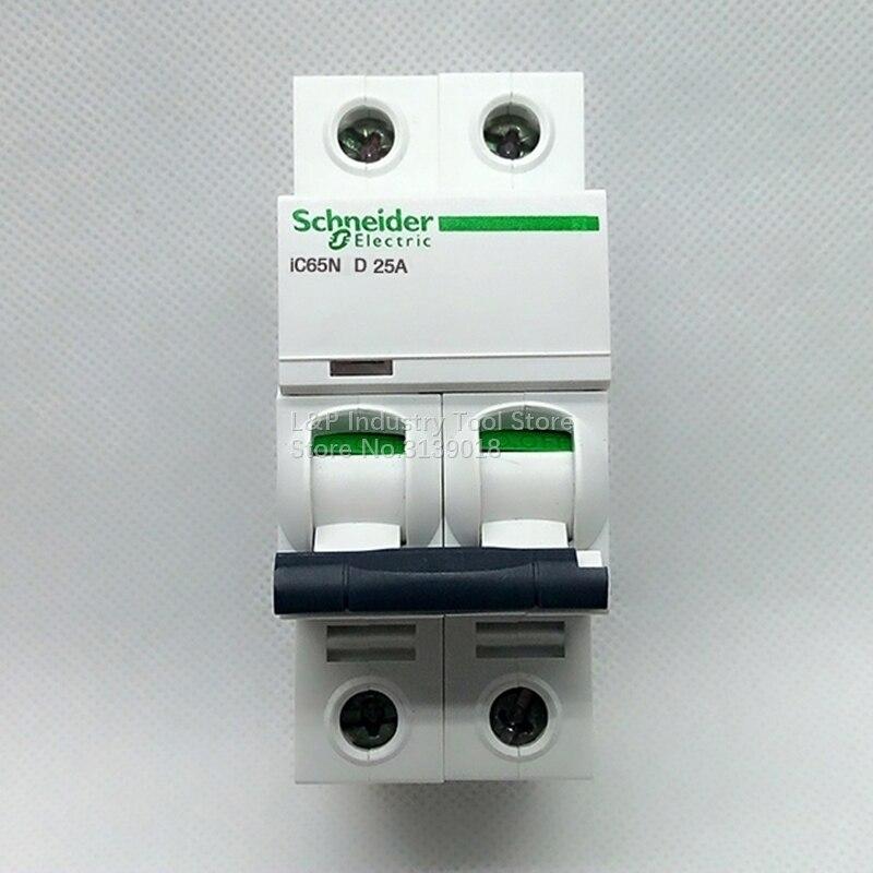 New Authentic Schneider Telemecanique IC65N 2P D25A A9F19225 Vacuum Mini Circuit Breaker MCB Acti 9 Type