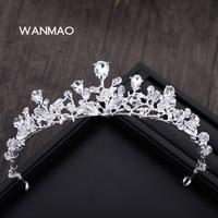 Sposa crystal crown testa imitazione perla perlina perline ornamenti per capelli accessori accessori abito da sposa HA0067