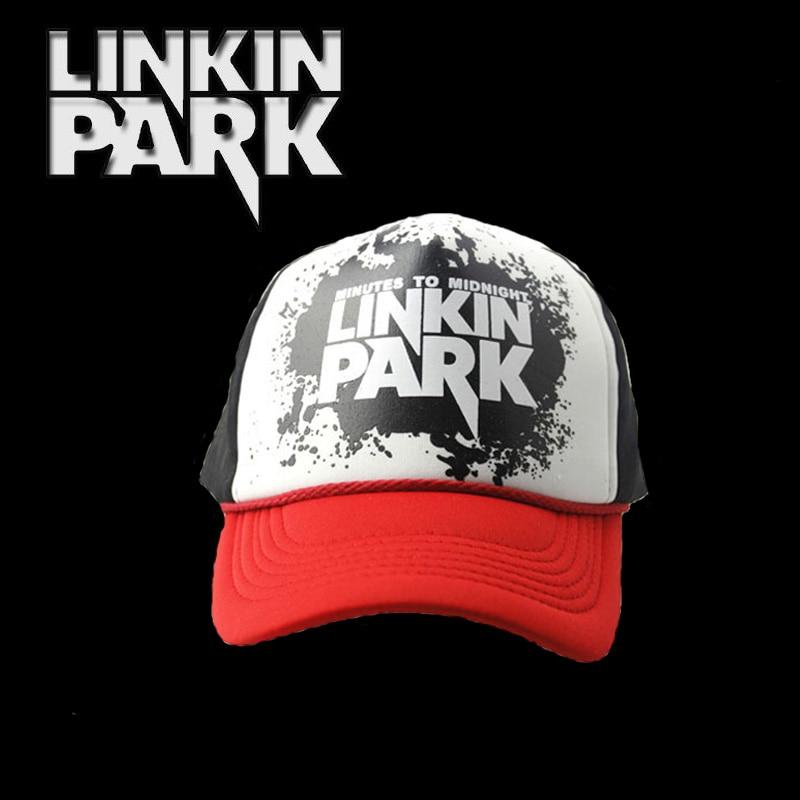 37cae9bb3a2 LINKIN PARK Snapback Hat Lace Net Cap Trucker Mesh Baseball Hip Hop ...