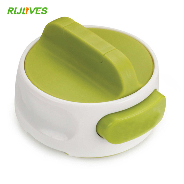 1 Pc Round Can Opener Stainless Steel Easy Manual Rotation Canned Fruit Luncheon Meat Non-slip Openers Kitchen Tools 4